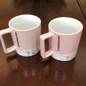 Bundle of 2 New Starbucks pink confetti mugs